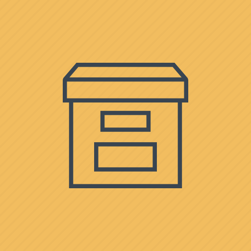 archive, box, file, storage icon