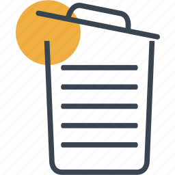 basket, bin, delete, garbage, interface, open, trash icon
