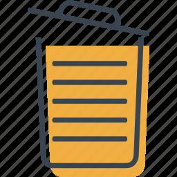 basket, bin, can, garbage, interface, open, trash icon