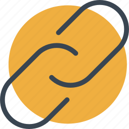 chain, connection, link, linked, multimedia icon