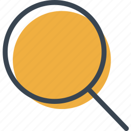glass, interface, lens, loupe, magnifying, multimedia, zoom icon