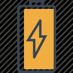 battery, full, status, technology icon