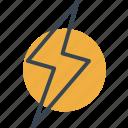 bolt, electricity, flash, lightning, technology, thunder, weather icon