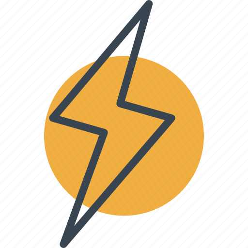 bolt, electricity, flash, lightning, technology, thunder, weather icon