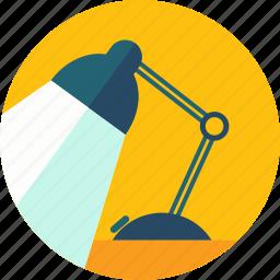 desk, illumination, lamp, light, work icon