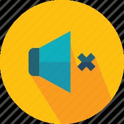 audio, multimedia, mute, sound, speaker, volume icon