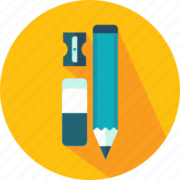 eraser, pencil, school, sharpener, tool, write, writing icon