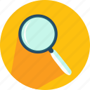 detective, glass, loupe, magnifying, search, zoom icon