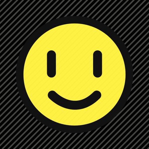 cheerfull, glad, happy, joy, smile, yellow icon