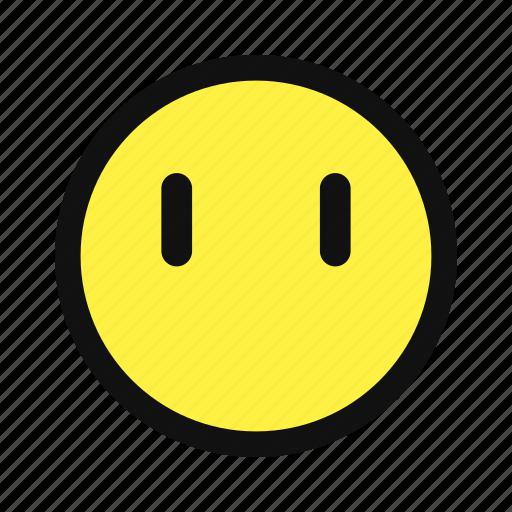 mouth, speechless, yellow icon