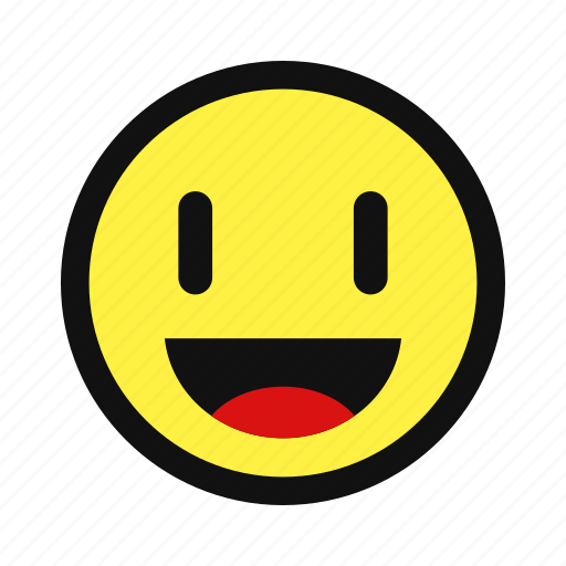 emotion, happy, joy, laugh, smile, yellow icon