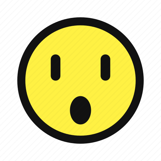 shocked, surprise, surprised, yellow icon