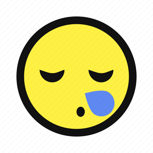 bubble, sleep, snooze, snore, snoring, yellow icon