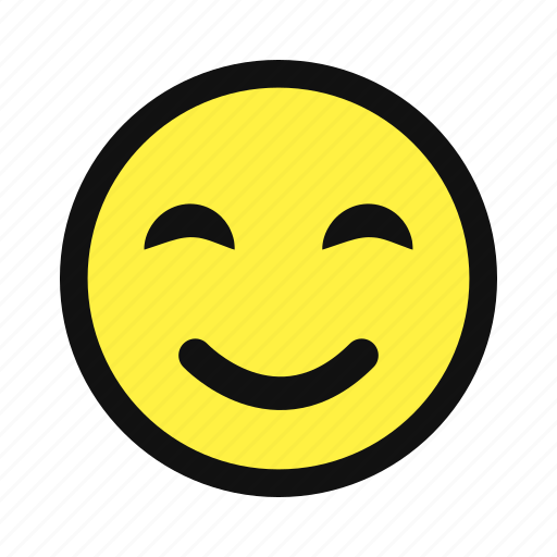 cheerful, delighted, happy, joy, joyful, smile, yellow icon