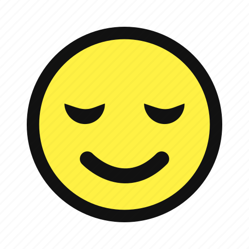 avatar, chill, delighted, pleased, relaxed, sleep, yellow icon