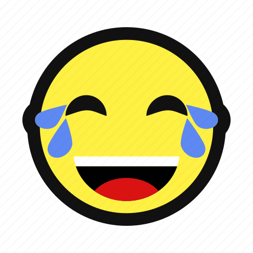 cry, happy, joy, laugh, lol, tear, yellow icon