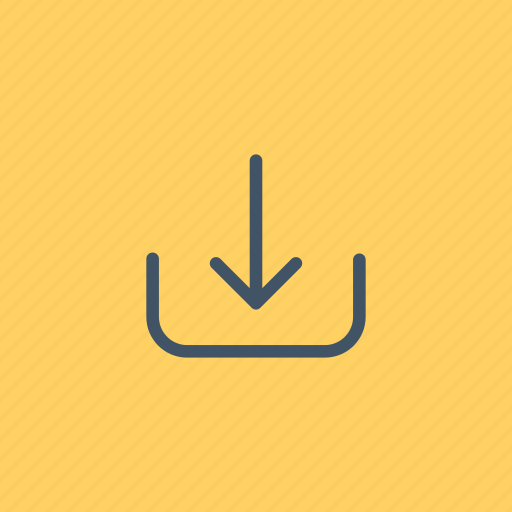 arrows, direction, down, download, downloading, interface, orientation icon