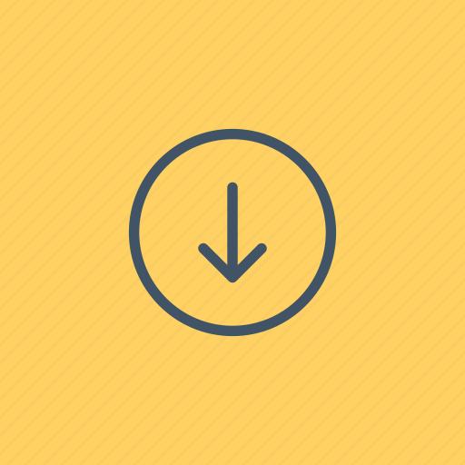 arrow, arrows, direction, down, downloading, interface, orientation icon