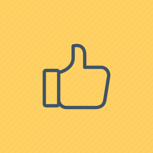 finger, gestures, hands, like, thumb, up icon