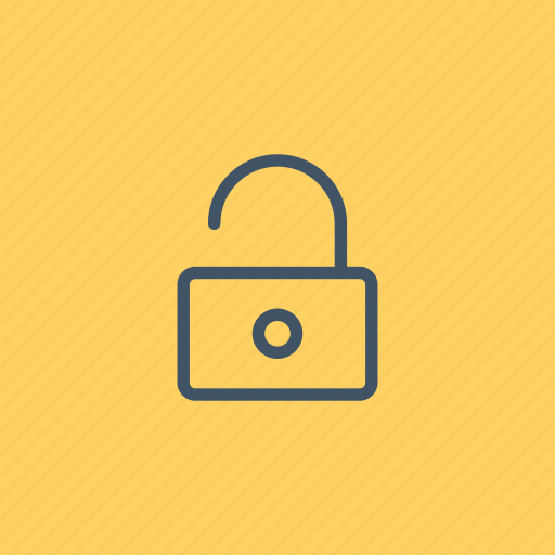 lock, padlock, secure, security, tools, unlocked, utensils icon