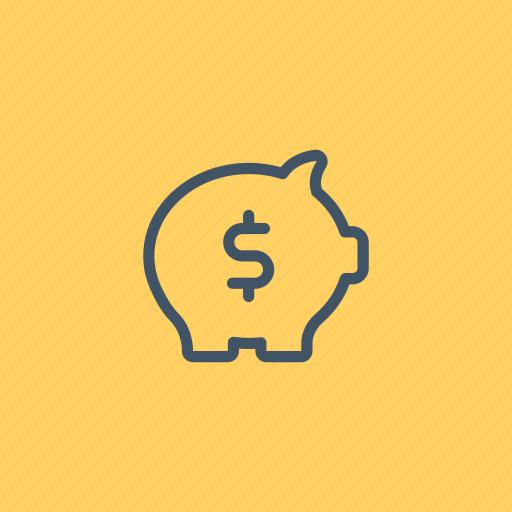 bank, banking, business, coin, money, piggy, savings icon