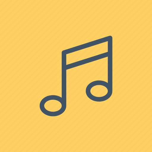 music, musical, note, player, quaver, song icon