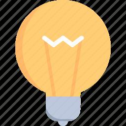 bulb, electronics, idea, illumination, invention, light, technology icon