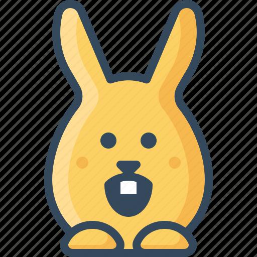 amazed, bunny, hare, rabbits, shocked, surprised icon