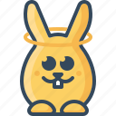 angel, bunny, happy, hare, holy, innocent, rabbits icon