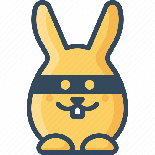 bandit, bunny, emoticon, mask, rabbits, spy icon