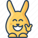 approval, big, bunny, cool, grin, hare, rabbits icon