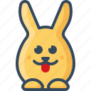 bunny, cheeky, hare, playful, rabbits, tongue icon