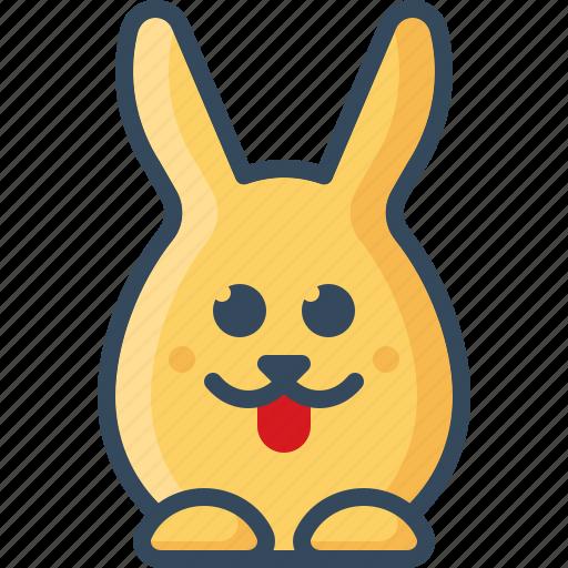 bunny, cheeky, hare, playful, rabbits, tongue icon