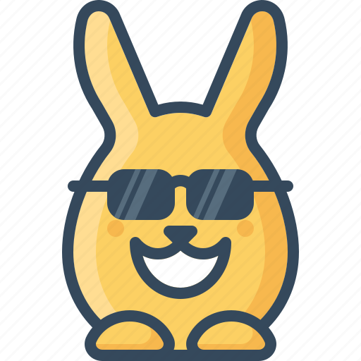 bunny, cheer, cool, glasses, happy, hare, rabbits icon