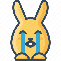bunny, cry, crying, hare, rabbits, sad, weep icon
