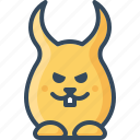 angry, bunny, cruel, devil, glad, hare, rabbits icon