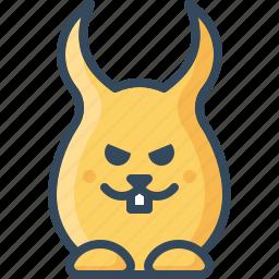 angry, bunny, cruel, devil, glad, hare, rabbits icon