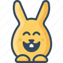 bunny, happy, hare, joyful, laughing, lucky, rabbits icon