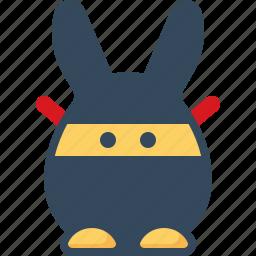 bunny, emoticon, hare, ninja, rabbits, spy icon