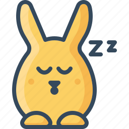 bunny, dream, dull, hare, rabbit, sleepy, zzz icon