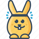 active, bunny, hare, rabbit, sport, sweating icon