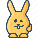 bunny, cool, hare, like, rabbit, thumb up, wink icon