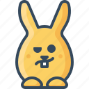 bunny, hare, perplexity, rabbit, wondering icon