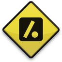 097724, 102847, dot, logo, slash, square icon