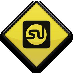 097728, 102851, logo, square, stumbleupon icon