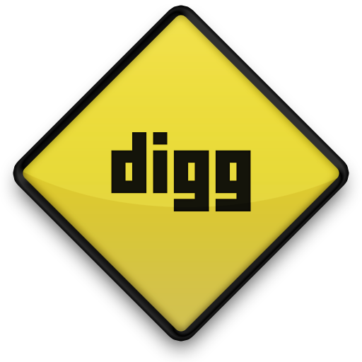digg, sign icon