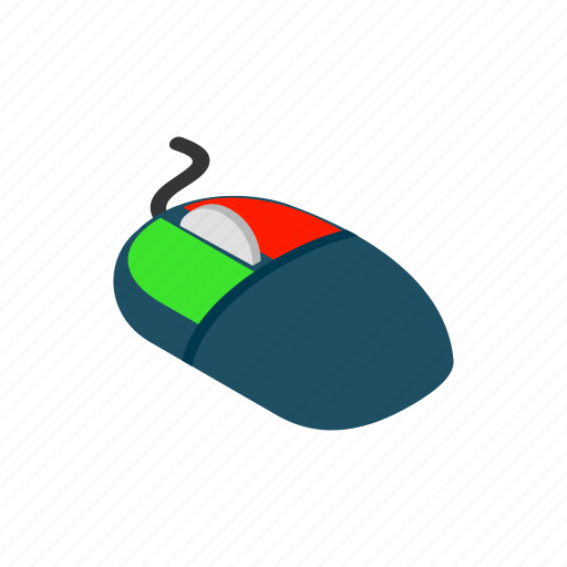 computer, device, isometric, mouse, pc, technology icon