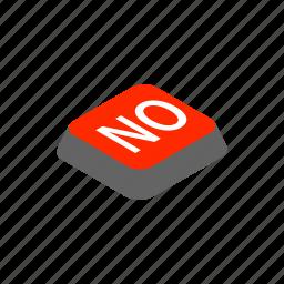 click, close, cross, delete, isometric, no, wrong icon