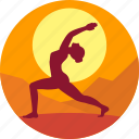 exercise, guru, health, meditation, sun, yoga icon