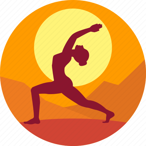 exercise, guru, health, meditation, sun, yoga icon